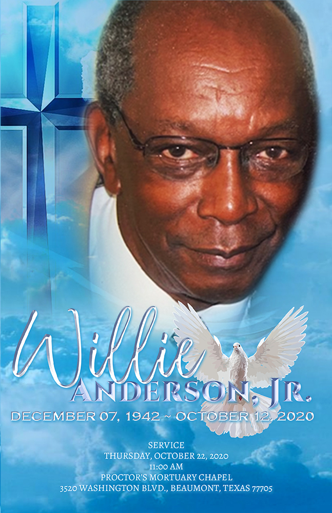 Willie Anderson, Jr. 1942 – 2020