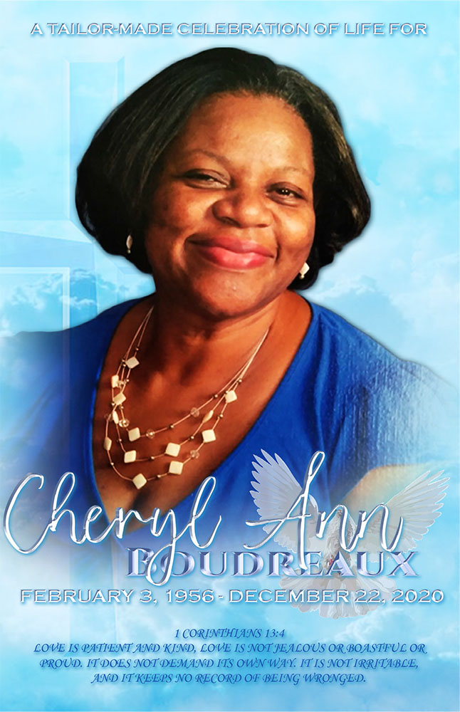 Cheryl Ann Boudreaux 1956 – 2020