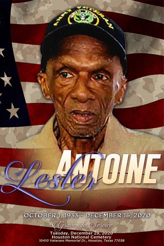 Lester Antoine 1933 – 2020