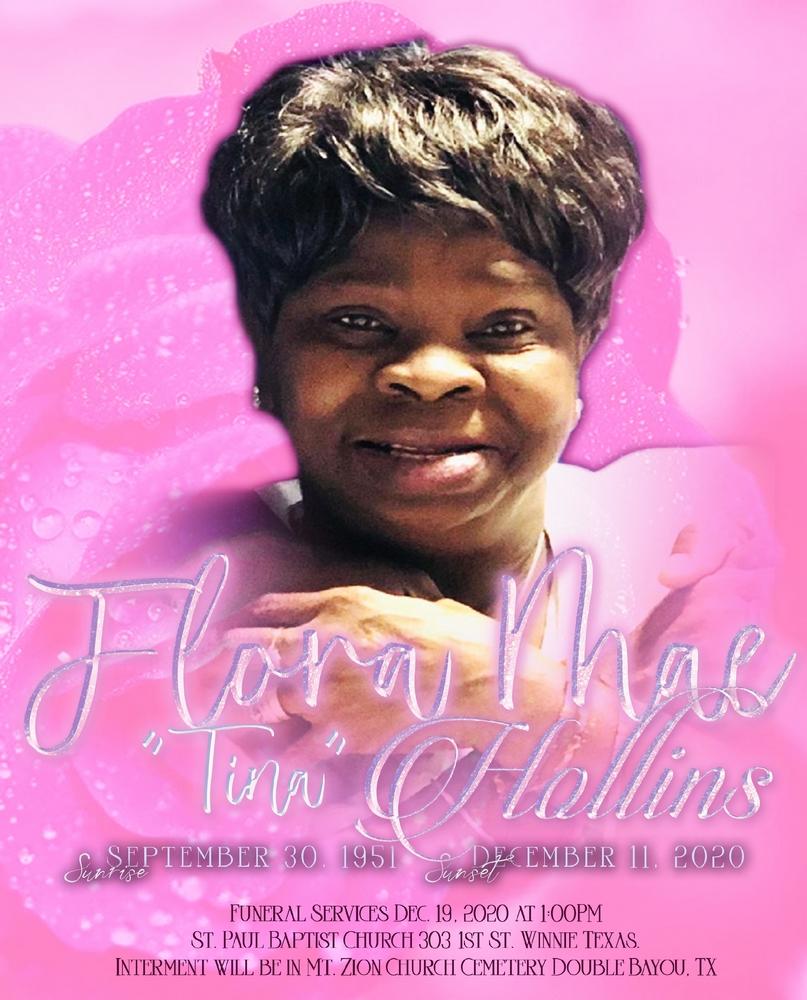 Flora Mae Hollins1951 – 2020