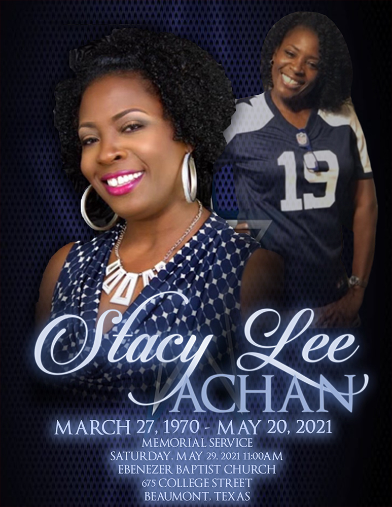 Stacy Lee Achan1970-2021